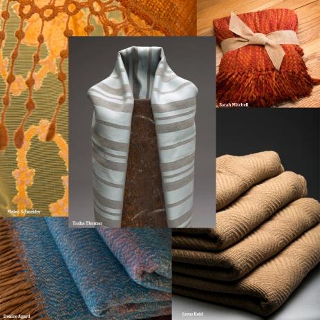 5 different fabrics illustrated.