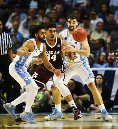 North Carolina's Texas A&M's at the Spectrum Center in Charlotte, North Carolina on March 18, 2018
