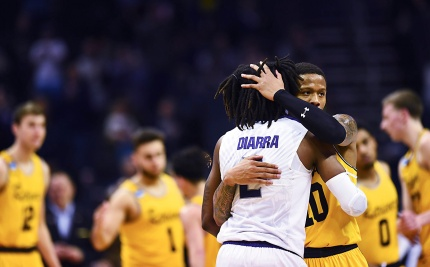 UMBC's Kansas State's at the Spectrum Center in Charlotte, North Carolina on March 18, 2018. (photo by Khadejeh Nikouyeh)